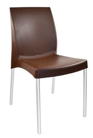 Cadeira de Lanchonete Marrom
