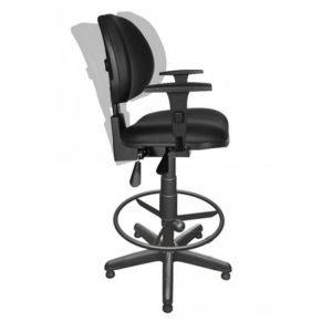 Cadeira Caixa Alta Ergonomica com braços