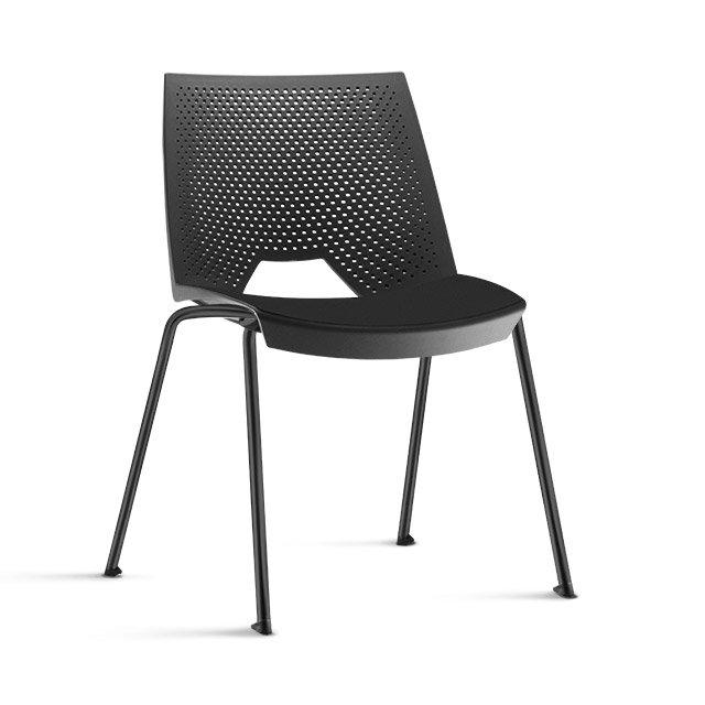 Cadeira empilável VIKA - preta