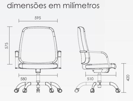 Cadeira para obesos - medidas