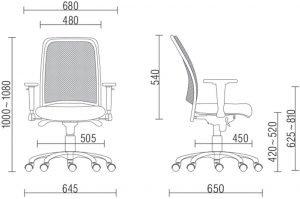 medidas de cadeira escritorio confortavel