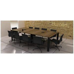 Mesa de reunião 10 lugares Linha SMART Black