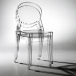cadeira transparente empilhável