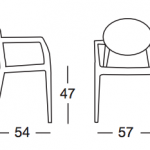dimensões cadeira igloo com braços