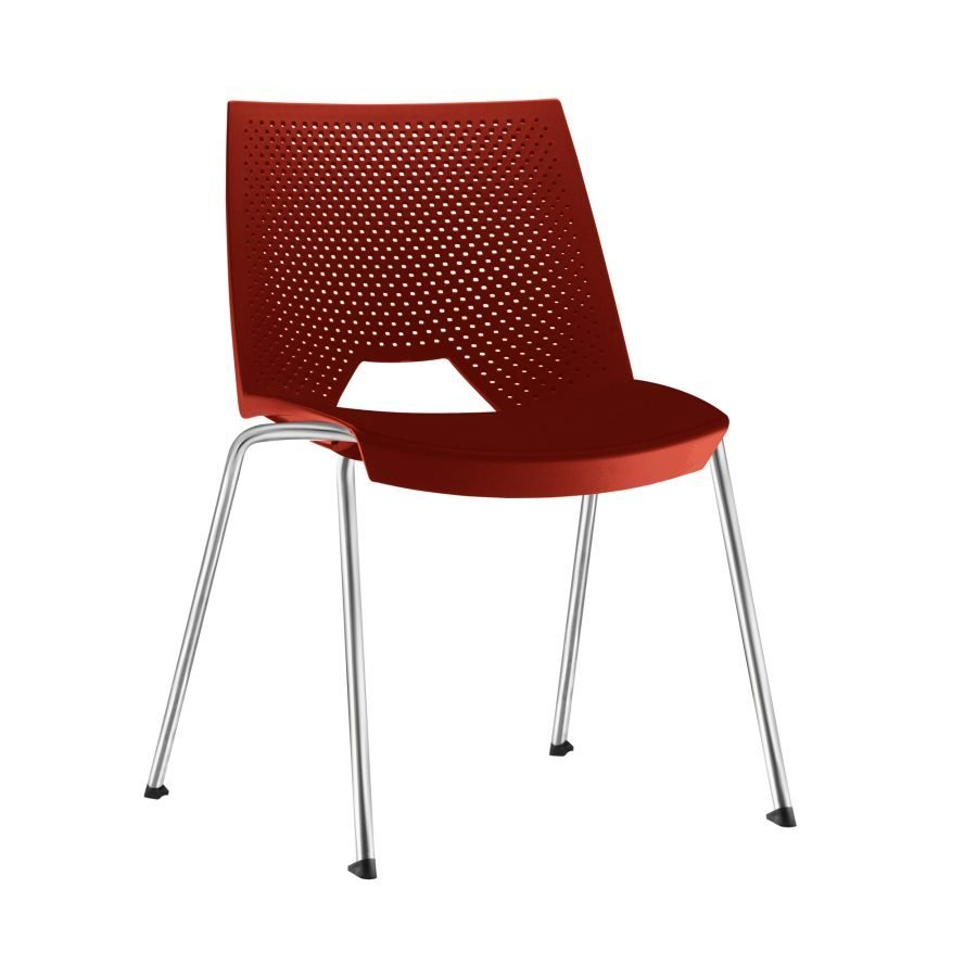 Cadeira empilável VIKA - vermelha