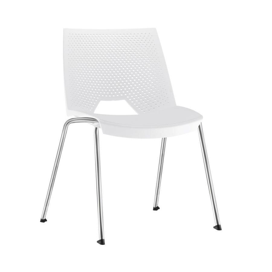 Cadeira empilável VIKA - branca
