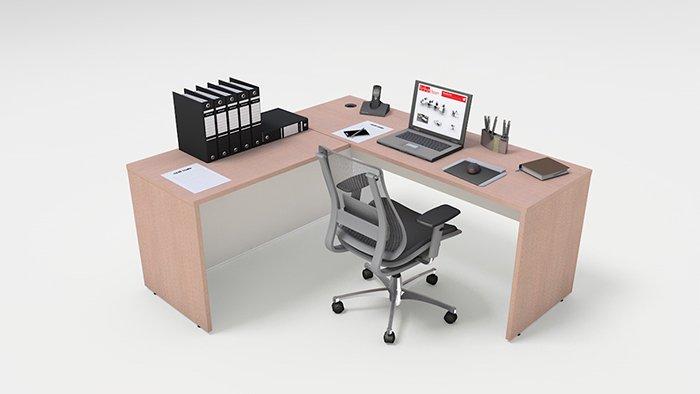 Esta o de trabalho m veis para escrit rio for Mesa escritorio moderna