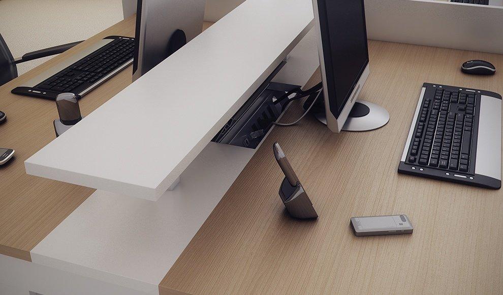 Mesas plataforma duratta mesas de escritorio for Protector de mesa escritorio