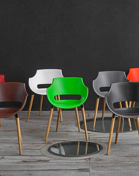 cadeira design - pés madeira