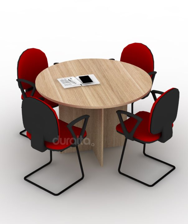 Mesa reunião redonda linha painel