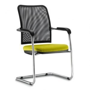 Cadeira tela fixa cromada