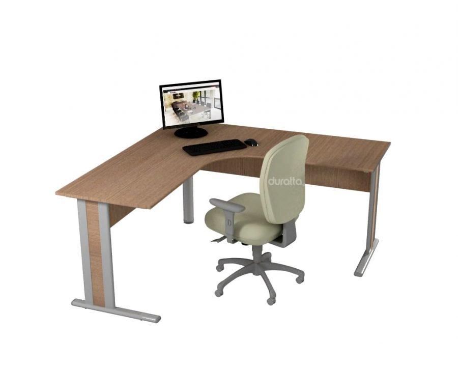 Mesa delta - Mesa em L para escritório