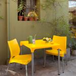 mesa para lanchonete amarela