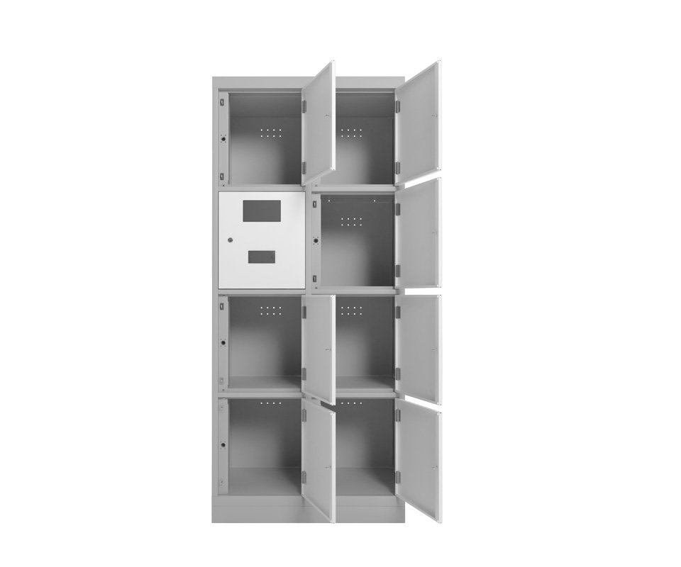 Armário eletronico de aço portas brancas