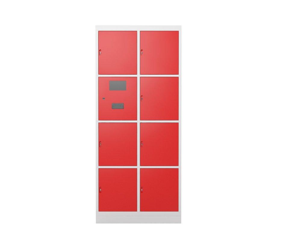 Armário Eletrônico portas vermelhas