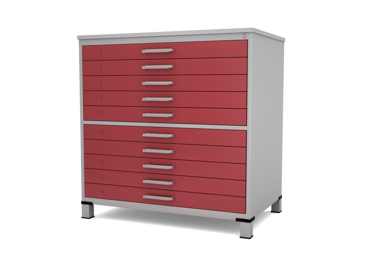 Armario Oficina Ikea ~ Mapoteca de aço 10 Gavetas Móveis para Escritório Duratta