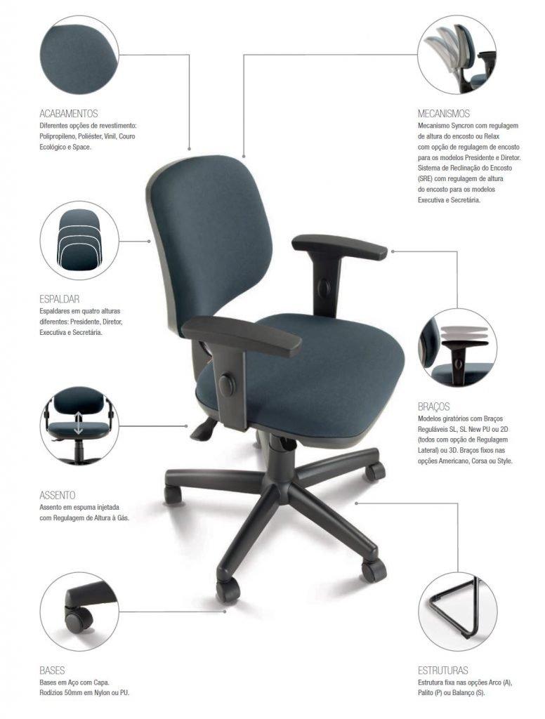 Cadeira de escritório ergonomica