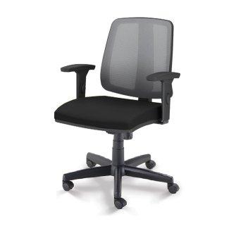 Cadeira Flip Cavaletti - Assento em tecido Preto
