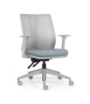 cadeira de escritorio cinza