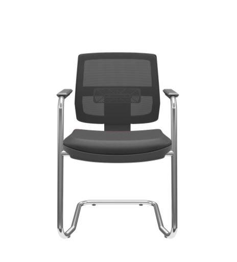 cadeira fixa para escritório encosto em tela
