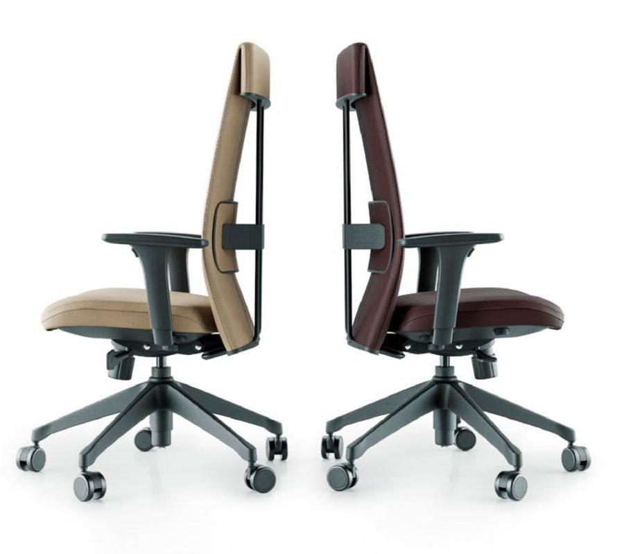 Cadeira Ergonomica Presidente LEEF lateral