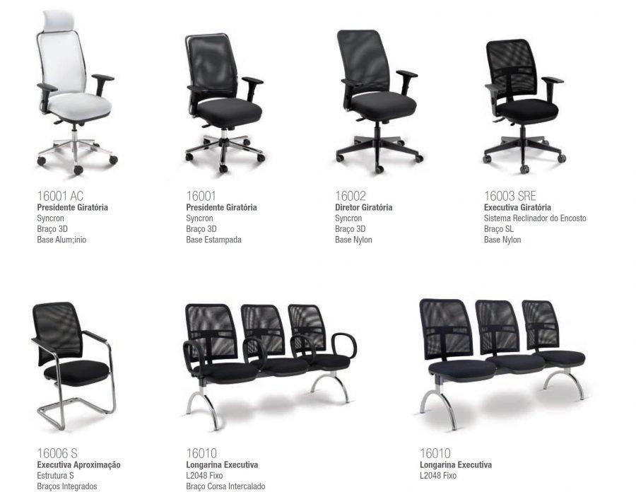 Cadeira tela - versões