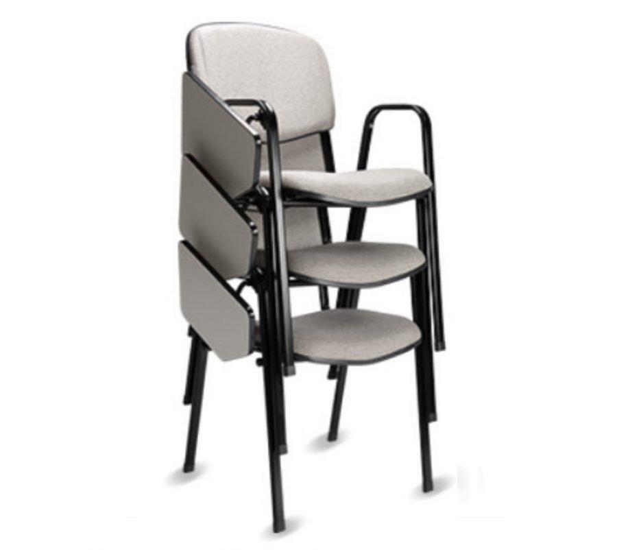 Cadeira universitaria empilhável