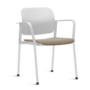 cadeira fixa branca
