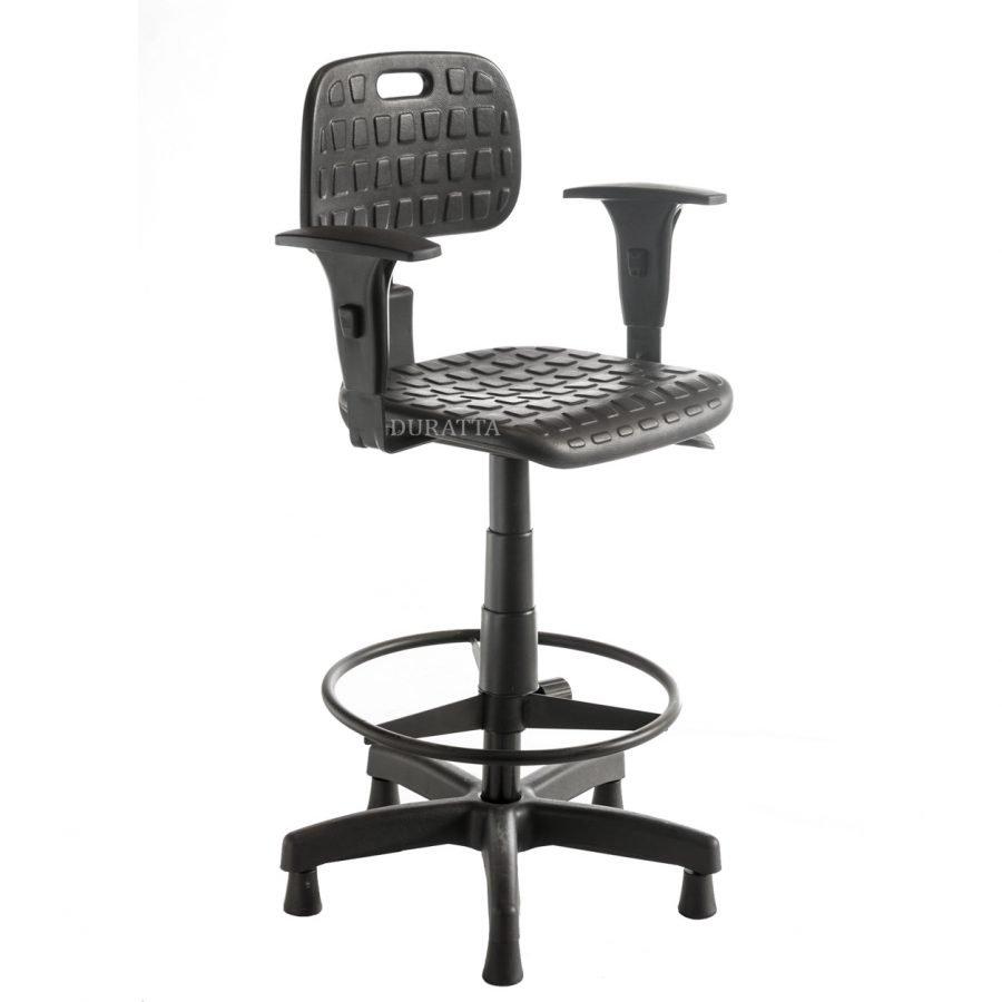 Cadeira caixa industrial com braços