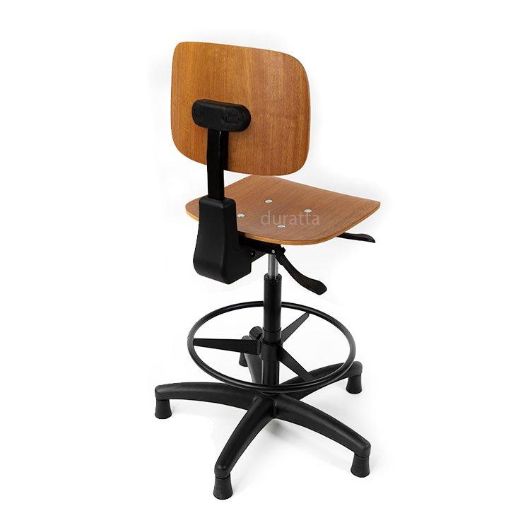 cadeira caixa alta reforçada com assento em madeira costas