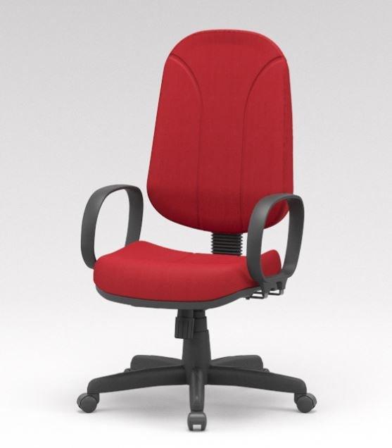 Cadeira presidente giratória vermelha