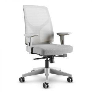 cadeira cinza giratoria