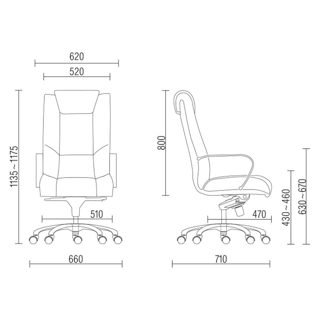 cadeira presidente alta desenho