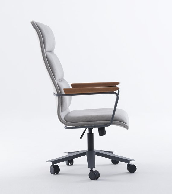 cadeira presidente soul braço madeira